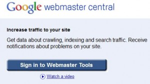 google webmaster central account
