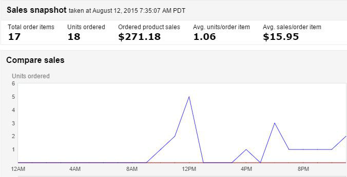 Daily Sales Report Amazon FBA